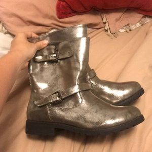 Silver Women's boots
